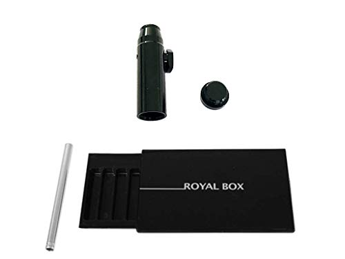 M&M Smartek Royal Box con tubi, dosatore gratuito per tabacco da fiuto, in diverse varianti (nero)