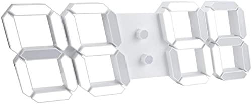 DFGBXCAW Reloj de Pared Digital LED 3D Reloj Despertador multifunción 14,5 Pulgadas Reloj Despertador de Escritorio LED 3D con Control Remoto y Pantalla de 12/24 Horas