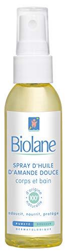 Biolane aceite de almendras dulces en spray 75 ml - Lote de 2