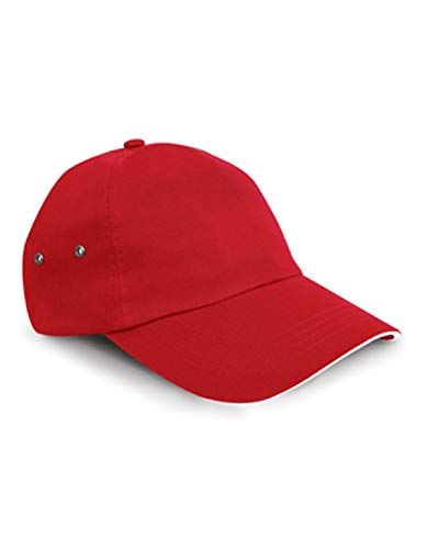 Result headwear-imprimantes plush coton, 5 panel casquette-rouge