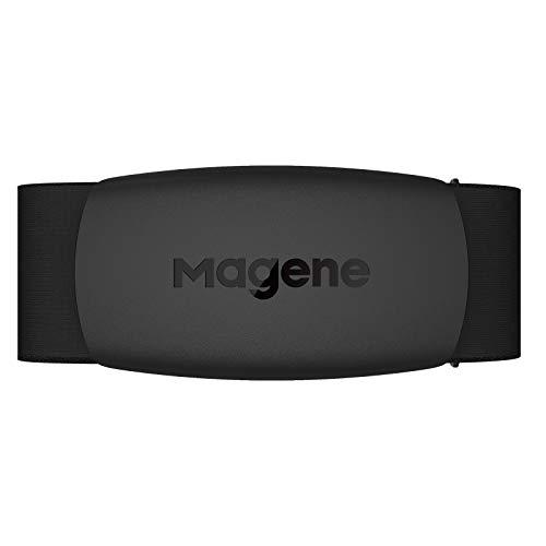 Magene Pecho con Monitor de Frecuencia Cardíaca, H64 Correa con Sensor de Frecuencia Cardíaca, Protocolo Ant+/Bluetooth