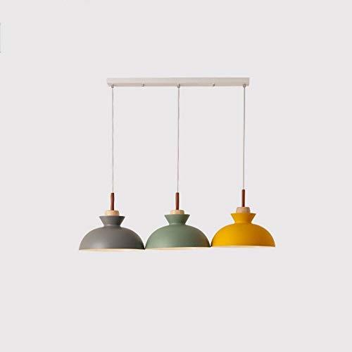Lyuez restaurant decoratie kroonluchter kleur eenvoudige moderne creatieve drie-koplampen witte lange tafel 3 large warm licht energiebesparende kroonluchter