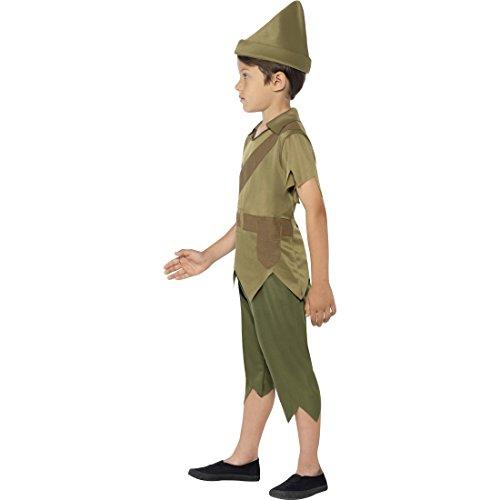 Disfraz infantil de corredor de Peter Pan, disfraz medieval, talla M 7-9 años, 128-140 cm, talla medieval