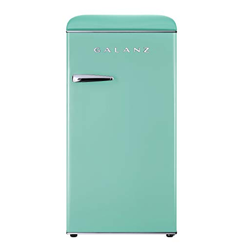 Galanz GLR33MGNR10 Retro Compact Refrigerator, Adjustable Mechanical Thermostat with Chiller, 3.3...
