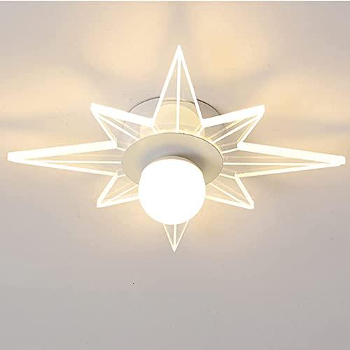 FURNITURE Luz de Techo Led Moderna Personalidad Creativa Tamaño Lámpara de Techo para Pasillo Pasillo Cocina Sala de Estar Luz Cálida Luz Blanca Fría 10W Actualización de Luz Blanca Fría,Estilo Blanc