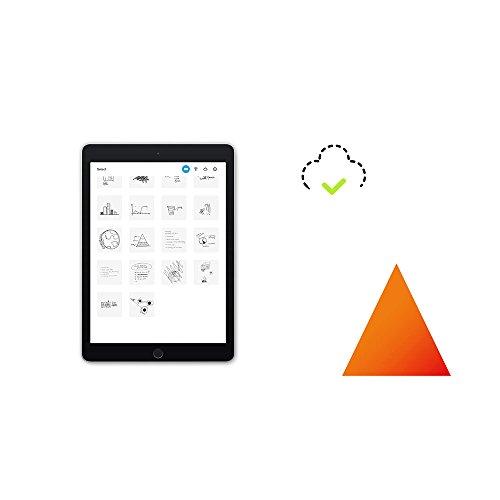 Wacom CDS-610G Bamboo Folio A5 Cuaderno digital para apuntes y dibujo / Cuaderno de notas inteligente con funda para documentos / Compatible con iOS, Android y Windows / Incluye bolígrafo / Gris