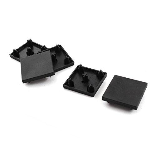 5pcs 40mm x 40mm negro cuadrado de aluminio perfil final de extrusión Tapa