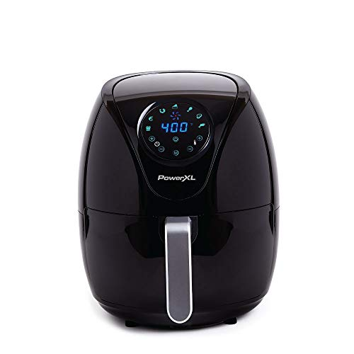 PowerXL Air Fryer7 QT Maxx Special Edition 2021 Extra Hot Air Fry Cook Crisp Broil Roast Bake High Gloss Finish Black 7 Quart