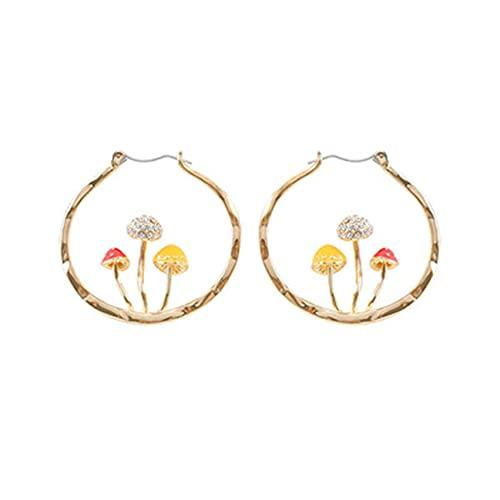 LPOQW Lindos aros de oreja dulces pendientes de seta anillos de oreja joyería mujer fecha accesorios de fiesta regalo para mujeres damas niñas