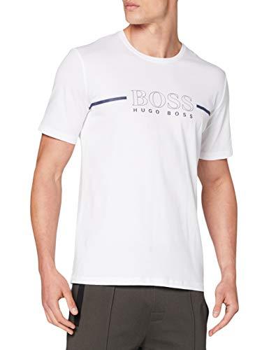 BOSS Herren Urban T-Shirt RN Pyjamaoberteil, White100, M