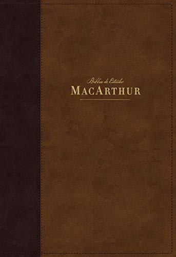 NBLA Biblia de Estudio MacArthur, Leathersoft, Café, Interior a dos colores