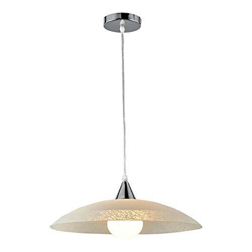 ONLI 4097/SM-Lampada a Sospensione, Vetro Bianco Satinato e Montatura in Metallo Cromato, Cavo Trasparente