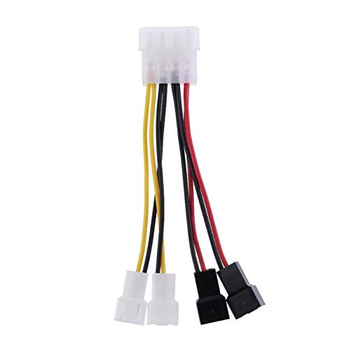 Convertidor adaptador 1 UNIDS Conector adaptador de cable de alimentación de 4 pines a 3 pines Conector de adaptador 12V * 2 / 5V * 2 Cables de ventilador de refrigeración por computadora para CPU Fun