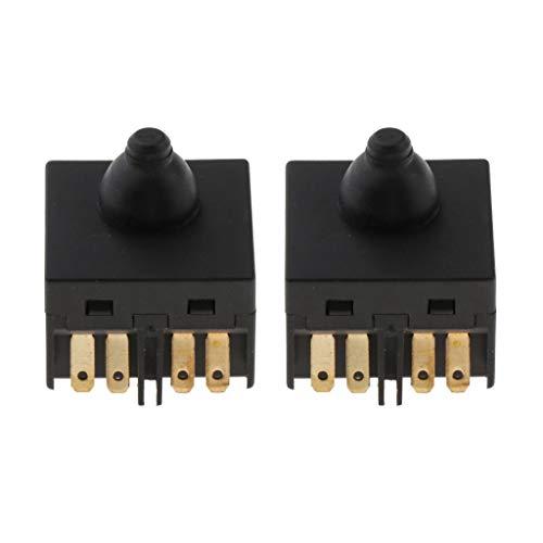 LOVIVER 2x Interruptor De Botón Universal De Repuesto Para Amoladora Angular Accesorio