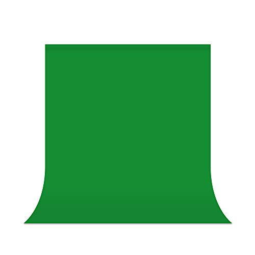 UTEBIT Grüner Fotohintergrund 1,5x2m / 5x6.5ft Greenscreen Stoff Backdrop Fotostudio Polyester Grünes Tuch Hintergrundstoff für Fotostudio, Modefotografie, Videoaufnahme, Hintergrundsystem