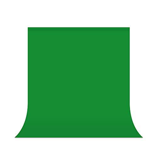 UTEBIT Sfondo fotografico verde 1.5 x 2m / 5x6.5ft Sfondo schermo verde Studio fotografico Tessuto in poliestere con tasca per asta per studio fotografico, fotografia di moda, registrazione video