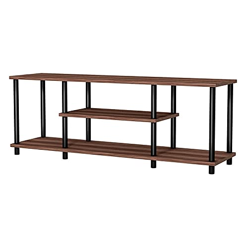 TANGIST TV de 3 Niveles TV Entertainment Media Center Console Shelf HW63289 (Color : Coffee)