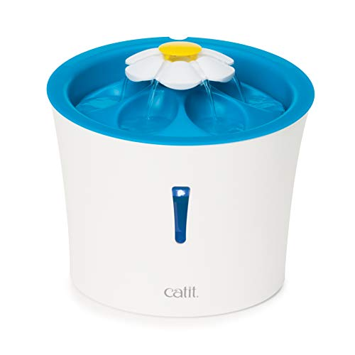 Catit LED Flower Water Fountain, Blue