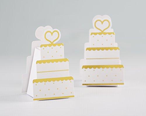 Kate Aspen ゴールドウェディングケーキギフトボックス (12個セット) 結婚式の記念品やウェディングパーティーの装飾に最適