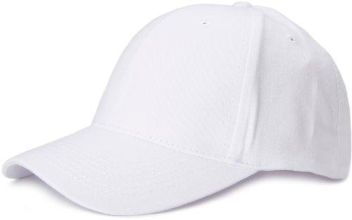 styleBREAKER Klassisches 6 Panel Cap mit gebürsteter Oberfläche (Weiß)