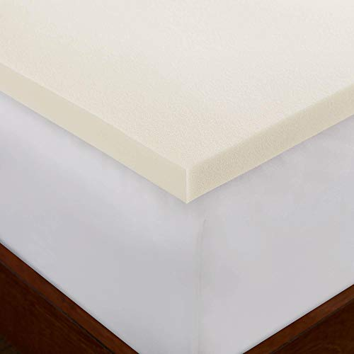 Twin 1.5 Inch iSoCore 2.0 Memory Foam Mattress Topper with Waterproof Cover and Two Contour Pillows included