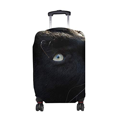 Panther Big Cat Muzzle Predator Dark Pattern Print Travel Luggage Protector Baggage Suitcase Cover Fits 18-21 Inch Luggage