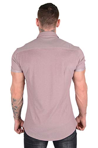 YoungLA-Slim-Fit-Dress-Shirts-for-Men-Athletic-Fitted-Button-Up-Formal-Short-Sleeve-Casual-Work-418