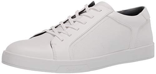 Calvin Klein Men's BOWYER Sneaker, White, 11