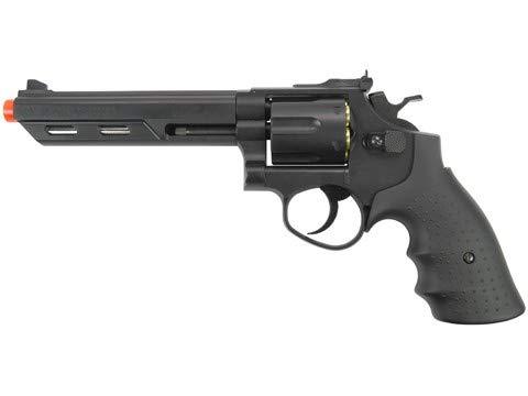 HFC Gas Powered Airsoft Revolvers (Black/Chrome 4'-6')
