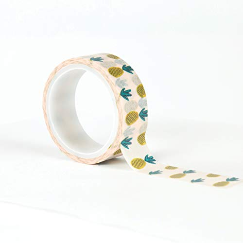 Carta Bella Paper Company CBLT100027 - Cinta adhesiva decorativa para piñas, color rosa, morado, naranja, azul, verde, negro
