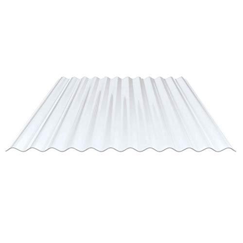 Lichtplatte | Wellplatte | Lichtwellplatte | Profil 76/18 | Material PVC | Breite 900 mm | Stärke 1,0 mm | Farbe Klarbläulich