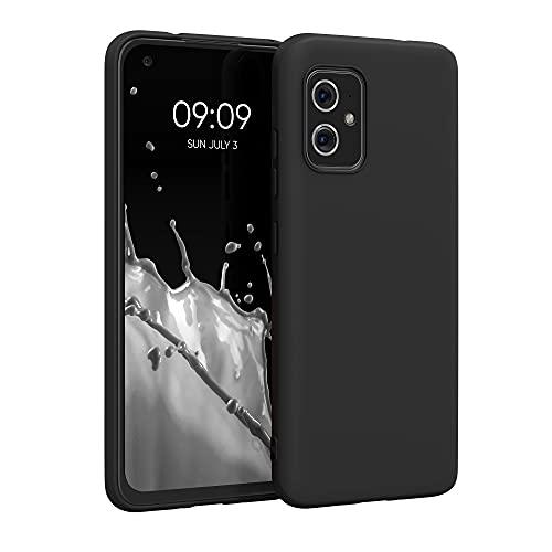 kwmobile Custodia Compatibile con ASUS Zenfone 8 - Cover in Silicone TPU - Back Case per Smartphone - Protezione Gommata Nero Matt