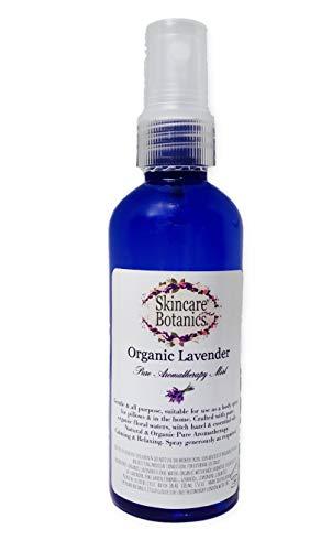 Spray para aromaterapia de lavanda orgánica completamente natural; para habitaciones, almohadas y cuerpo