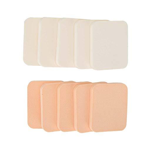 nobrands Maquillage Puff-10Pcs Portable Dry Soft Sponge Makeup Puff Air Cushion Convient pour Les poudres et Les fondations liquides