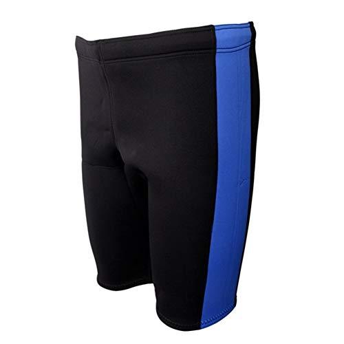Z.L.FFLZ Nadelanzug 3mm Neopren Männer Frauen Warm Wetsuits Shorts Tauchen Schnorcheln Winterschwimmen Hosen Kanu Kajak Dinghy Segeln Surfen, (Color : Blue and Black XXL)