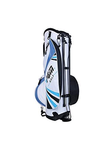 CHENG BAG Sac à Dos de Golf, Unisexe Grande Capacité 6 Pôle Paquets Nylon Imperméable Poids Léger Base Stable Multifonction Sac à Main Portable (Couleur : Bleu)