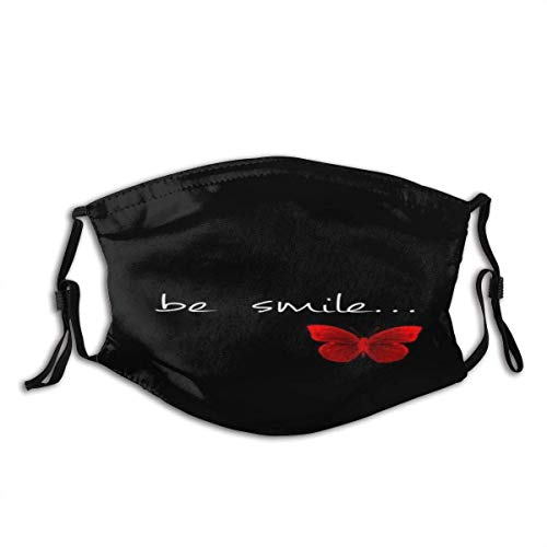 Love Unisex Windproof and Dustproof Mouth Mask,Face Cover with Adjustable Elastic Strap