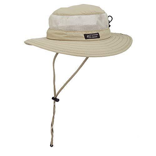Dorfman Pacific Men's Bonnie Mesh Sides Hat, Khaki, XX-Large