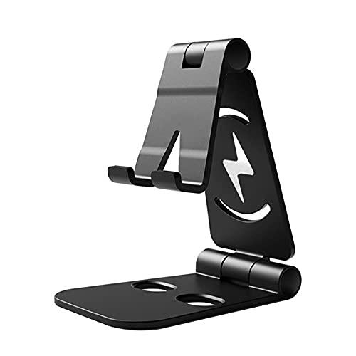 JINHU Ajustable Base De Teléfono Móvil Universal Soporte Plegable Aplicar para iPhone Samsung Huawei Xiaomi Etc. Teléfono Inteligente, Black