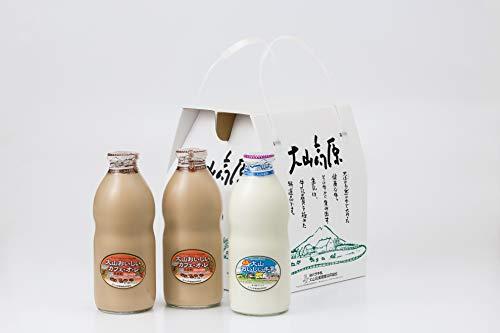 ギフトミルクBセット 特選大山おいしい牛乳 カフェオレセット (熨斗無)
