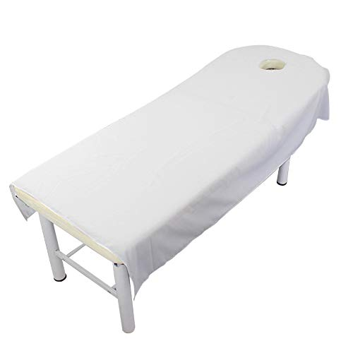 XHXseller Massage Table Sheet Set,Cosmetic Salon Sheets,Luxurious Jersey Fitted Sheet,Facial Bed Cover with Hole,80x190cm, 80x180cm, 120x190cm