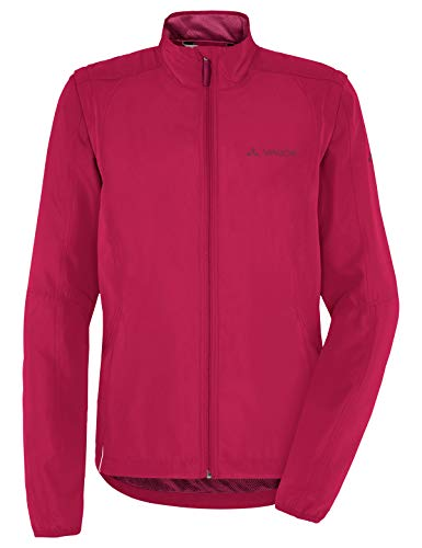 VAUDE Damen Jacke Women's Dundee Classic ZO Jacket, Windjacke zum Radfahren, crimson red, 40, 068179770300