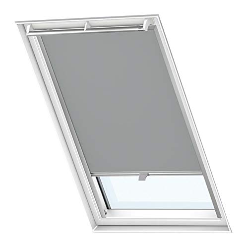 Froadp M08/308 Verdunkelungs Rollos Sonnenschutz Thermorollos Hitzeschutz Velux Jalousien für Dachfenster Fensterdekoration Springrollos GDL/GGL/GGU/GPL/GPU/GXU(61,3×116cm)