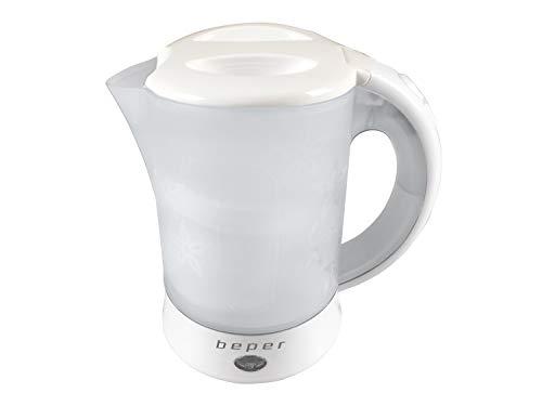 Beper Hervidor de Agua Electrico BB.001 Capacidad 0.5L, 600W, 600 W, 0.6 litros, 0 Decibeles, Plastico, Weiß