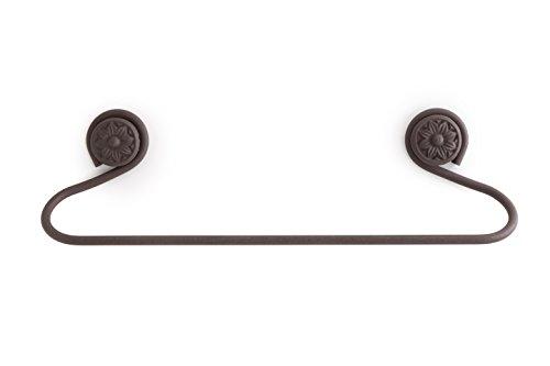 ABC_baño Accesorios baño en forja 606 - Toallero Barra Pared Íbero marrón óxido