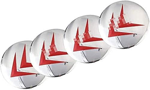 YANXS 4PCS Tapas Centrales para Llantas, Coche Wheel Centrales De Rueda Tapa del Cubo Decorativa Pegatinas Accesorios para Citroen C4 C5 C6 C8 C2 C3 C-Elysee AX DS, 60mm