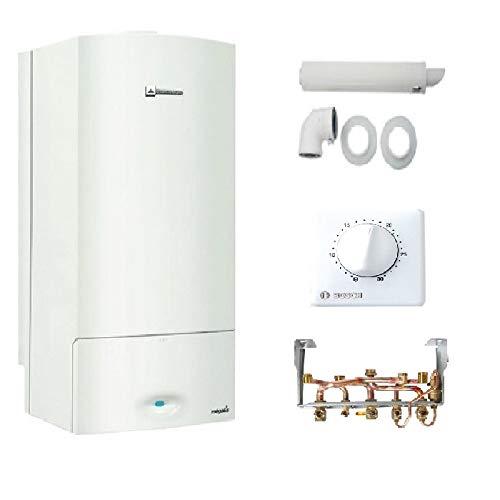 Caldera de pared Gas ELM LEBLANC Megalis Condens GVAC 25-1M 24 kW Completo (dosseret + ventosa + termostato TRL22)