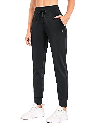 BALEAF Pantalones deportivos térmicos de invierno con forro polar para mujer, de cintura alta, para...