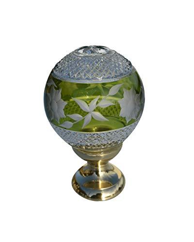 Amazone - Bola de rampa de cristal, color verde