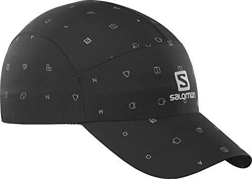Salomon Gorra reflectante, Unisex, REFLECTIVE CAP, Protección UV, Negro, Talla única, LC1425800